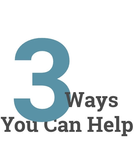 3 Ways You Can Help